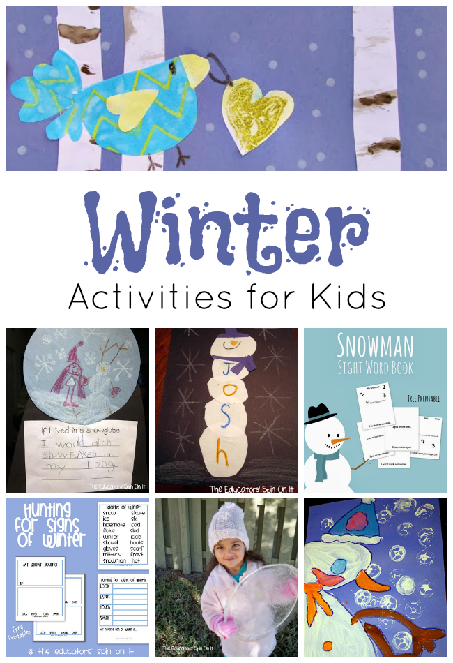 Winter Activities for Kids from the Educators' Spin On It