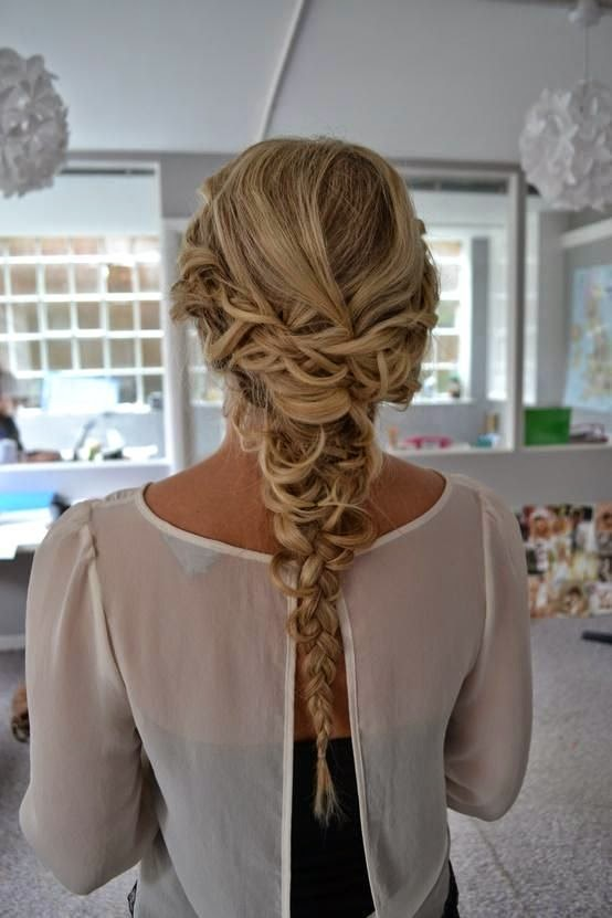 See more Gorgeous Long Blonde Braided Homecoming Hairstyle - Homecoming Hairstyles 2013