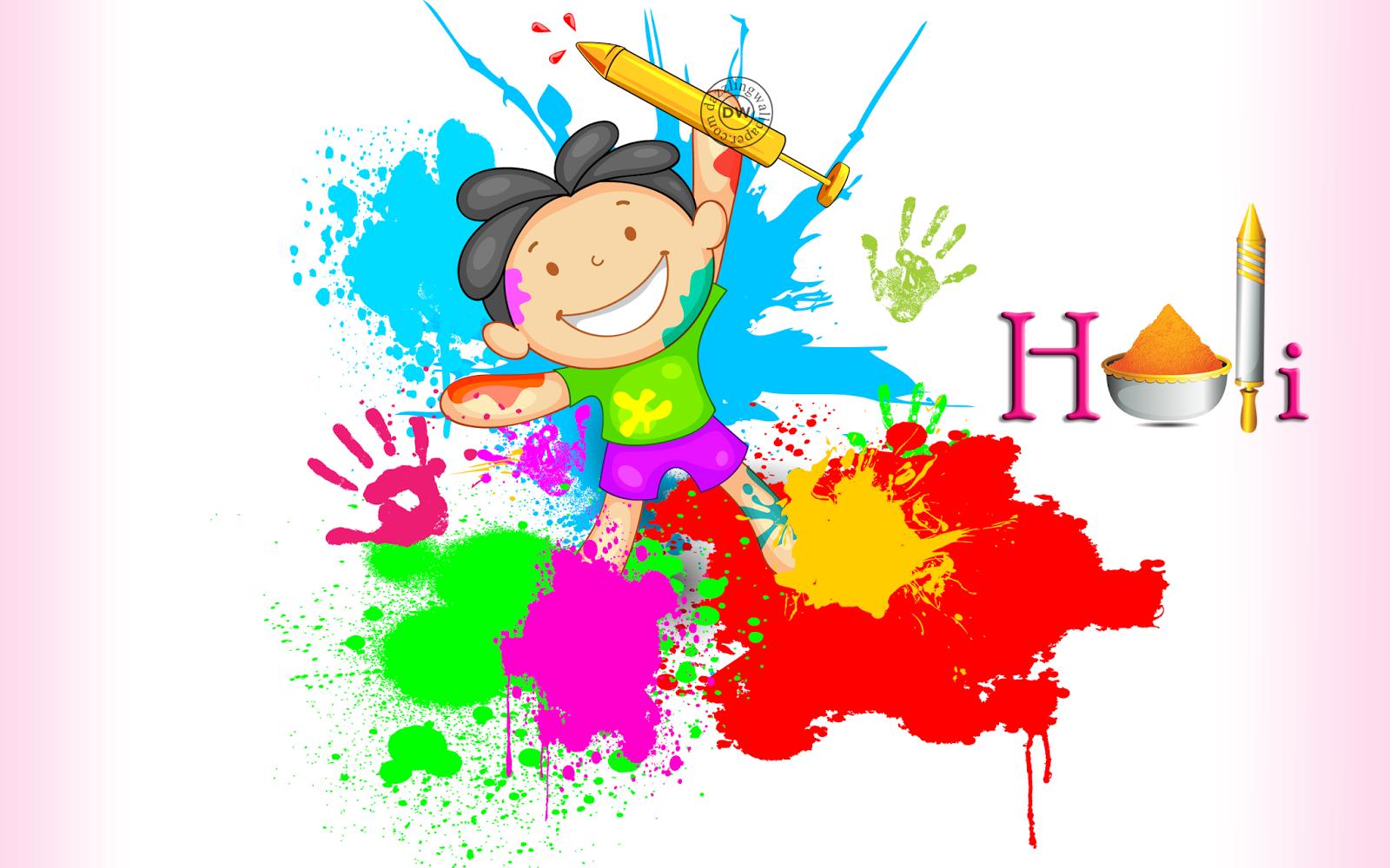 Happy Holi Cartoon Pics