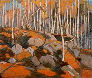 Tom Thomson painting - The Birch Grove, Autumn