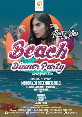 Hotel yang berlokasi di segitiga emas atau pusat bisnisnya Semarang ini pada malam tahun baru mengadakan acara : Beach Dinner Party.