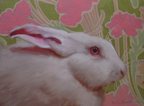 Pinky the pink eyed white bunny