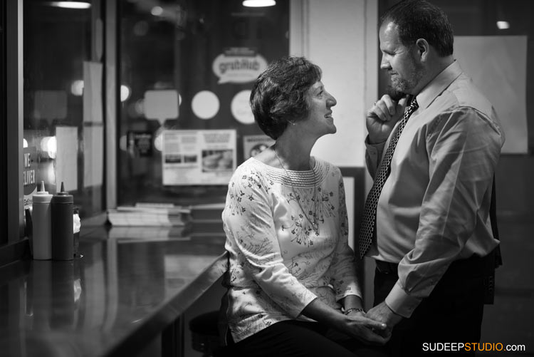 Downtown cafe Ann Arbor Engagement Session - SudeepStudio.com Ann Arbor Wedding Photographer