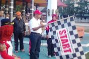 Wakil Bupati Kep.Selayar Lepas Peserta Gerak Jalan Santai HARHUBNAS 2016