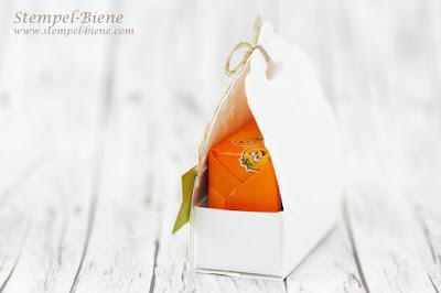 Stampinup Stanze gewellter Anhänger; Gastgeschenke; Hochzeitsgeschenke; Prägeform Funkelsterne; Stampinup Stille Natur; Stanze Herzblatt; Stempel-Biene