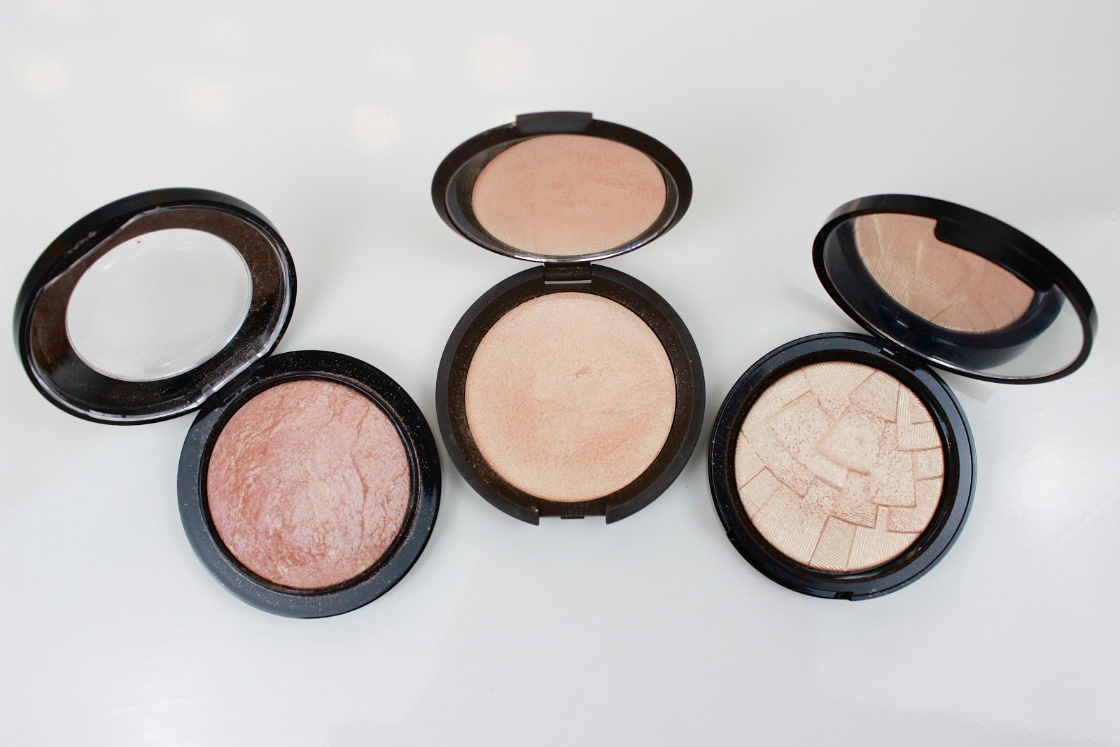 Mac Soft and Gentle, Becca Champagne Pop, Anastasia Beverly Hills So Hollywood