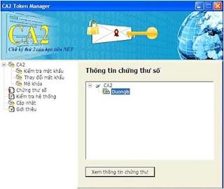 Đăng nhập USB chữ ký số