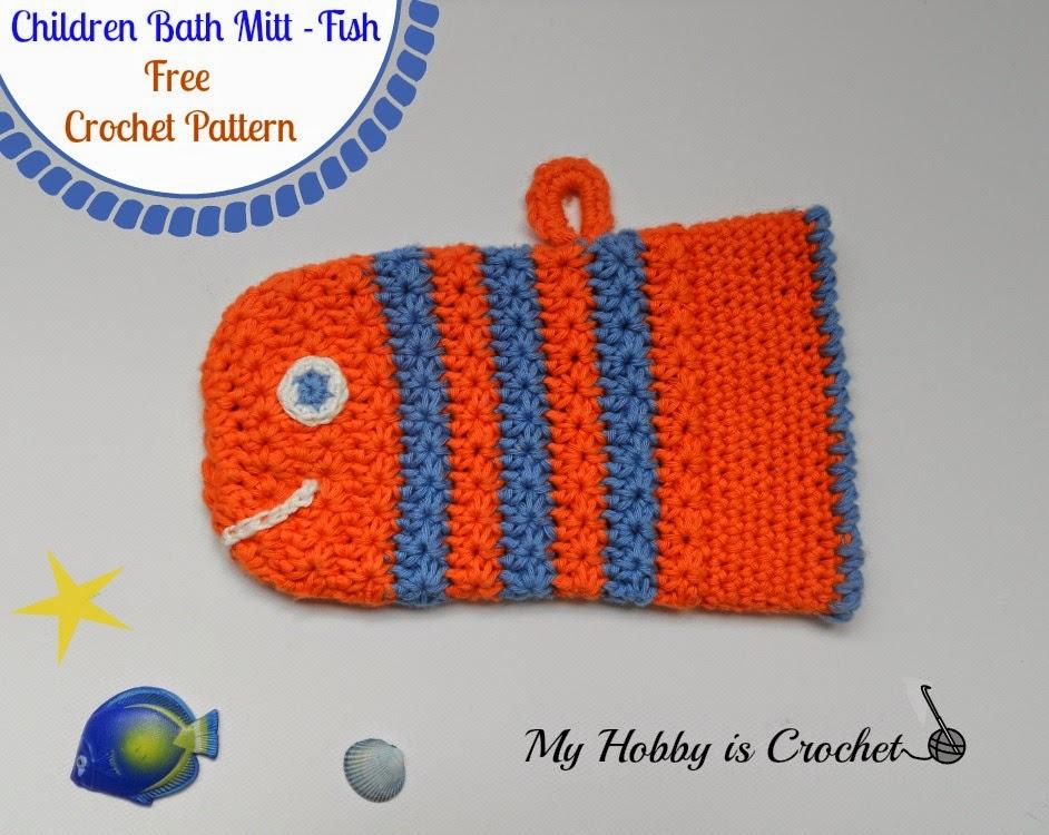 Children Bath Mitt - Fish
