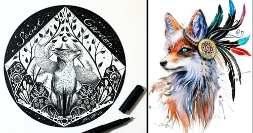 00-Pixie-Cold-Fantasy-Animals-in-Different-Style-Drawings-www-designstack-co