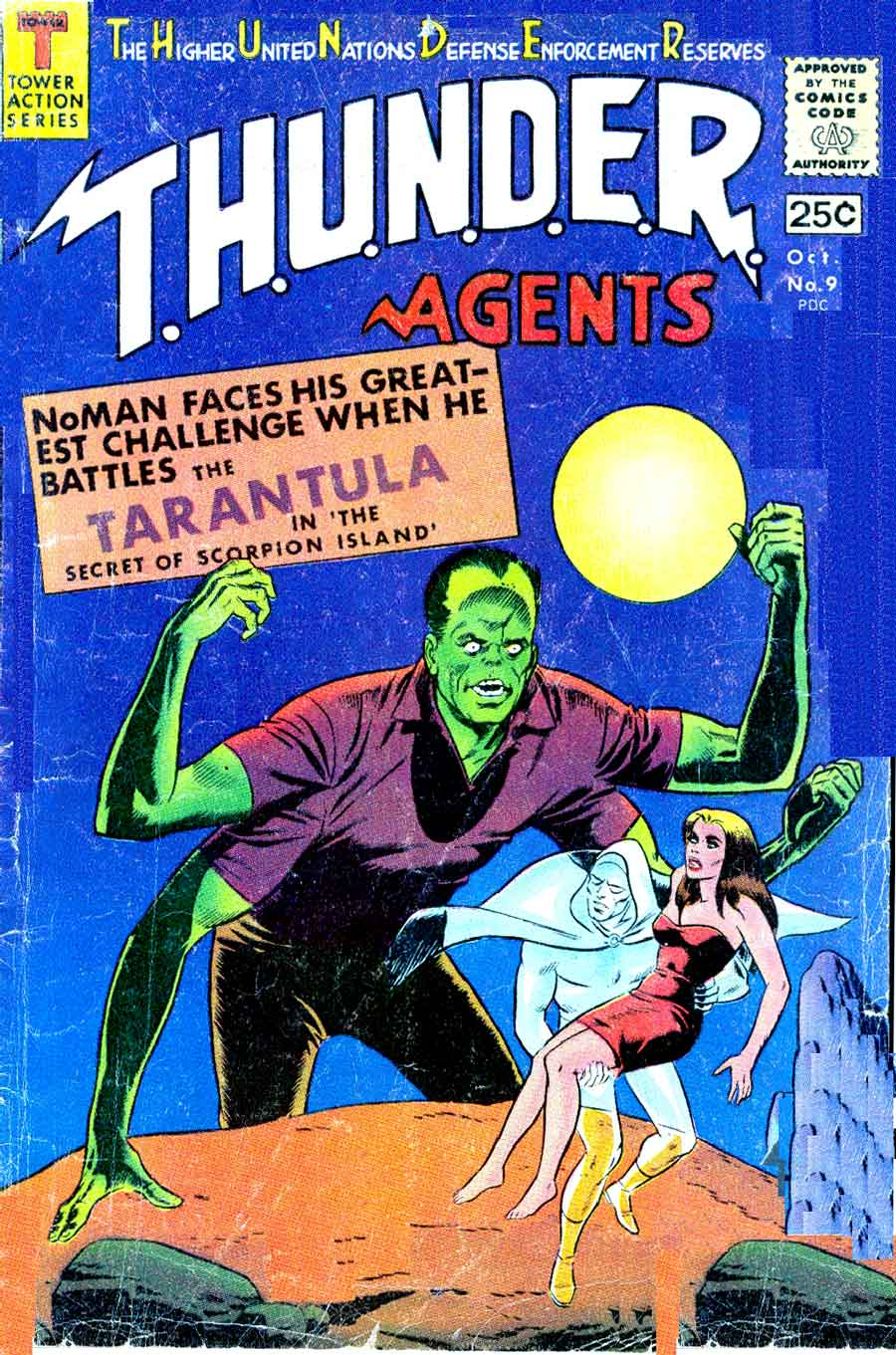 Thunder Agents v1 #9 tower silver age 1960s comic book cover art by Wally Wood