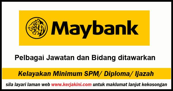 Jawatan Kosong Terkini Maybank