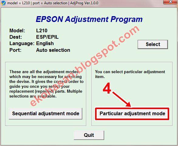 Resetter Epson L110 L210 L300 L350 L355