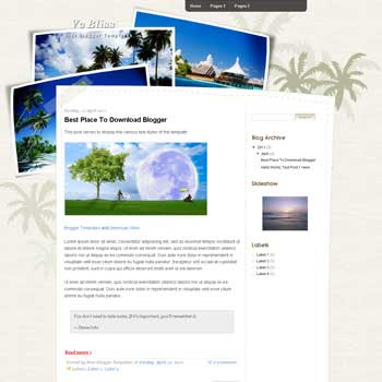 Vc Bliss Blogger Template. blogger template from wordpress theme