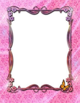 Primoroso marco color rosa de quince años
