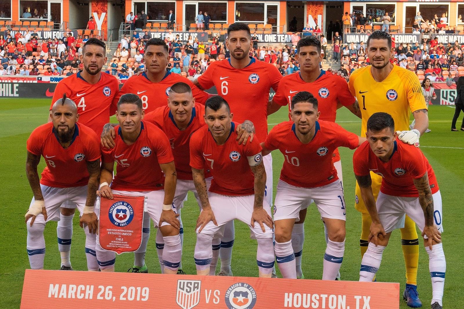 Formación de Chile ante Estados Unidos, amistoso disputado el 26 de marzo de 2019