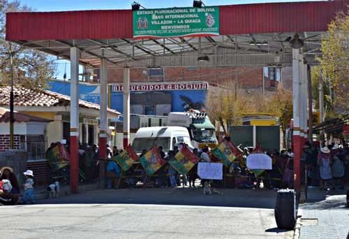 En Villazón se cierra el paso fronterizo