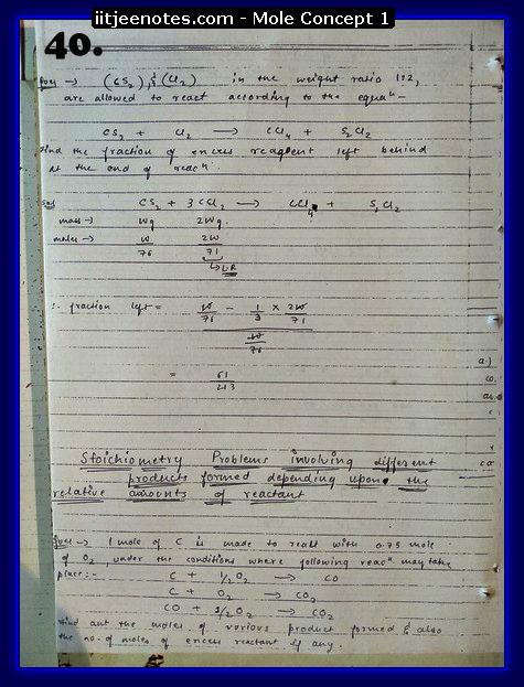 Mole Concept Notes IITJEE8