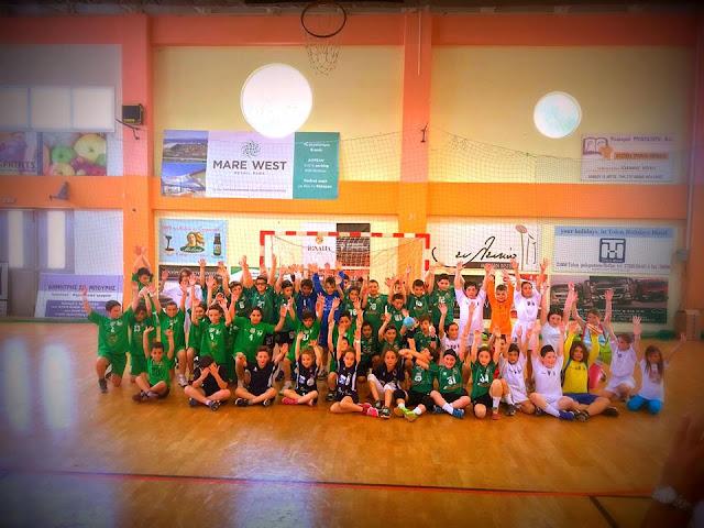 Με επιτυχία οι αγώνες για το Τοπικό Πρωτάθλημα Χειροσφαίρισης κατηγορίας Μίνι