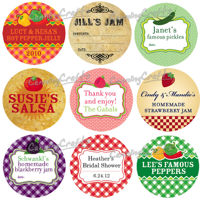 custom canning labels