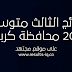 تحميل نتائج الثالث متوسط 2017 محافظة كربلاء