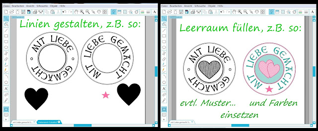 Screenshots mit gestalteten Logos