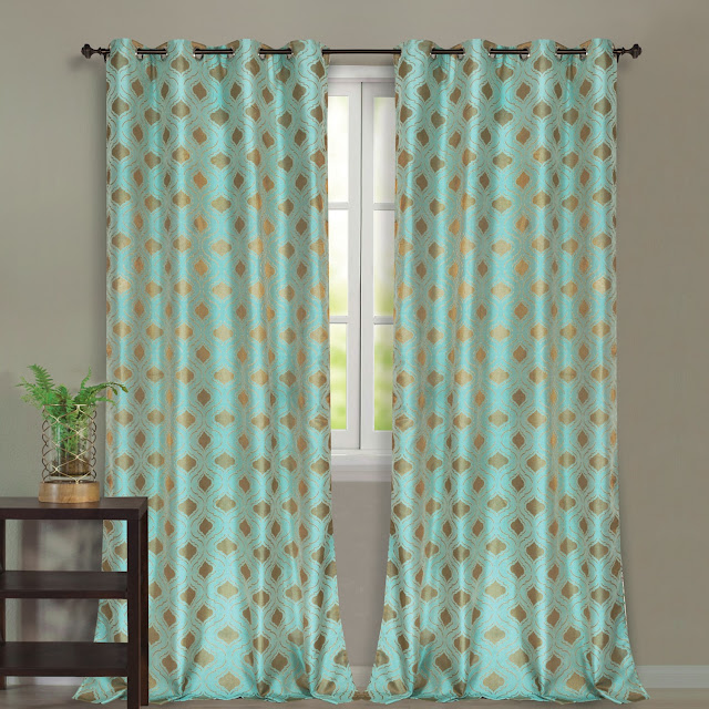 Blackout Curtain  Turquise Palace_New Turquoise