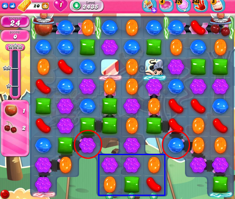 Candy Crush Saga level 2435