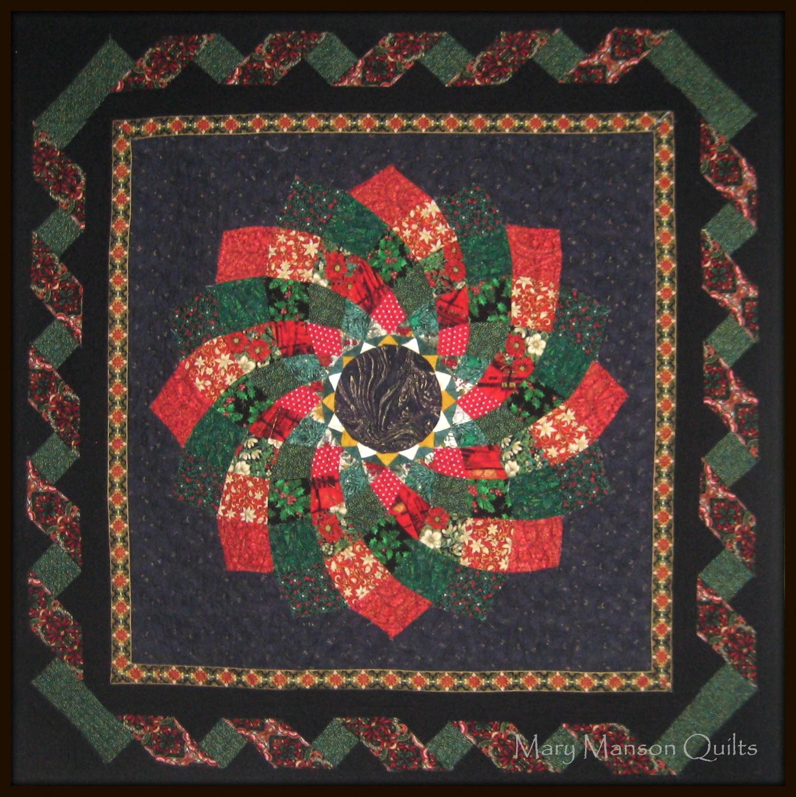 November christmas dahlia quilt