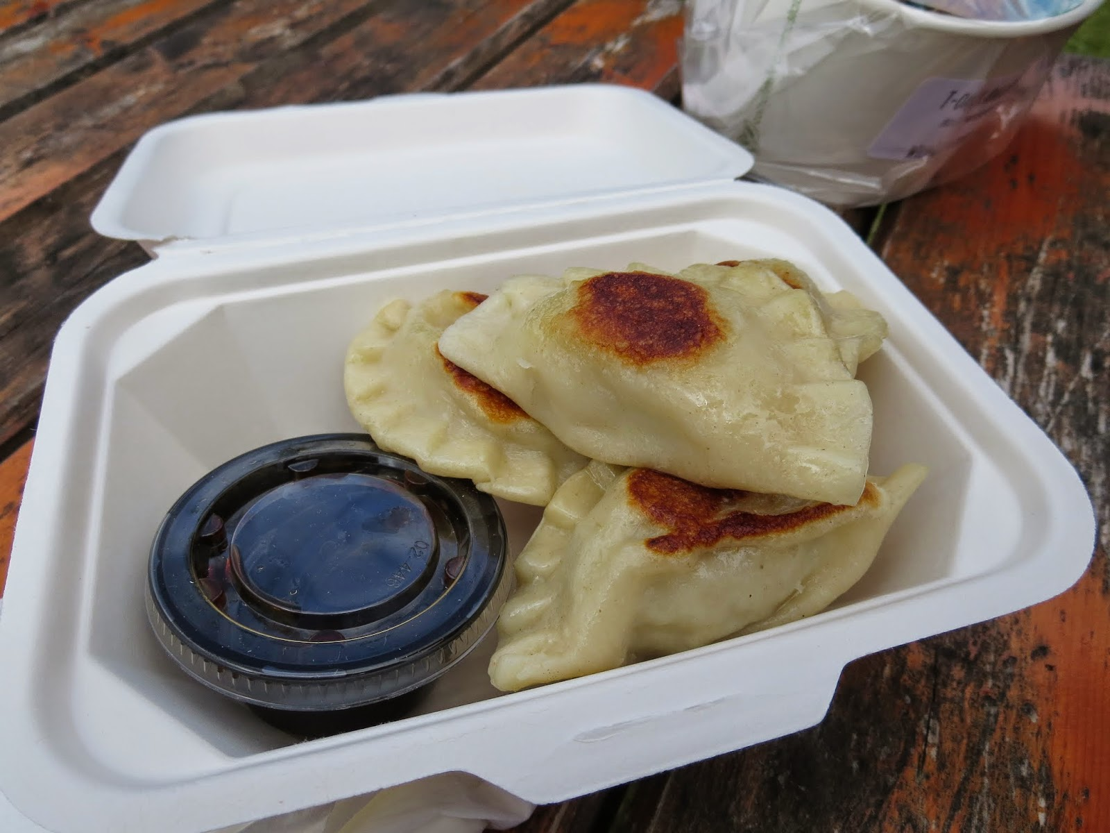 Pierogis at the Marlay Park food market in Dublin