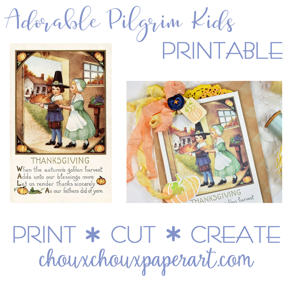 Easy Stenciled Backgrounds + Very Cute Pilgrims + TinyTownie