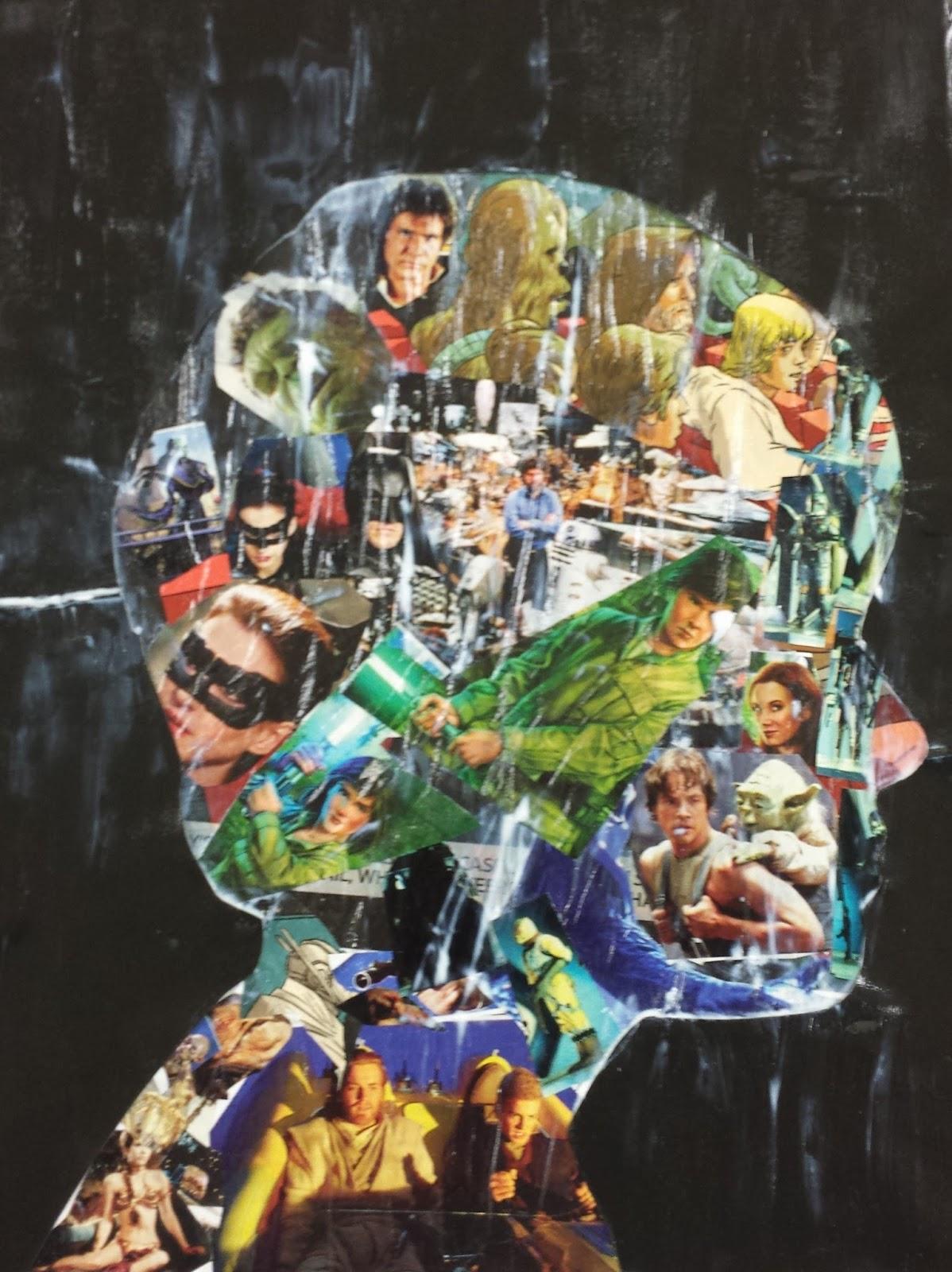 Angela Anderson Art Blog: Profile Silhouette Collage ...