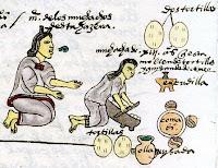 Aztecas haciendo tortillas