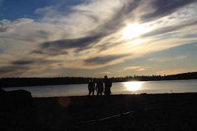 storsjön, strand,himel,måln,sol