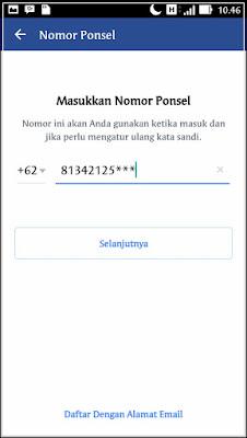 cara mendaftar facebook gratis lewat posel gambar1