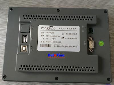 Đại lý bán và phân phối sản phẩm màn hình cảm ứng HMI hãng MCGS TPC7062TX.