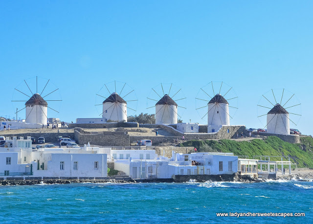 the windmills as seen from Kastro's
