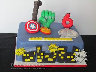 Bolo de aniversário Avengers