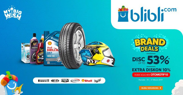 #Blibli - #Promo Brand Deal Diskon Hingga 53% & Ekstra 10% (s.d 31 Maret 2019)