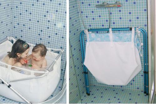 Bañera extensible y plegable niños