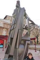 Estatua de Nostradamus de Salon-de-Provence.