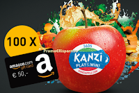 Logo Kanzi Apple: gioca e vinci 100 buoni Amazon e 1 Fiat 500