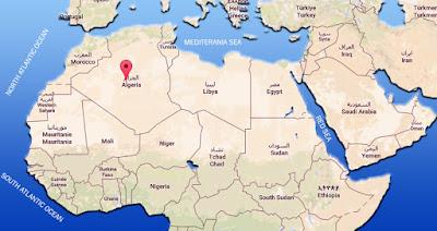Peta negara Aljazair