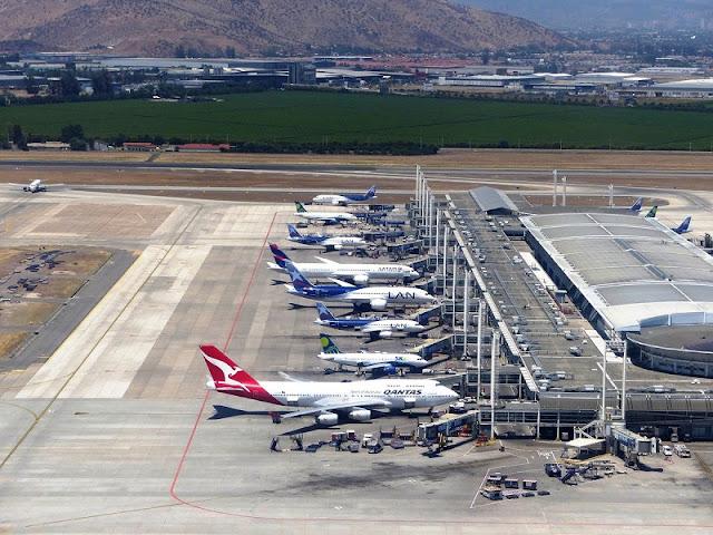Aeroporto em Santiago
