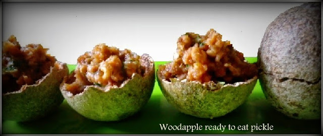 Kawth Bael makha or wood apple relish- A ready-to-eat pickle