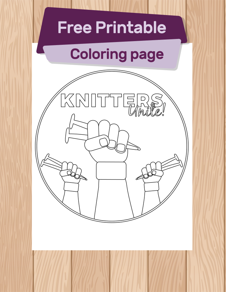 Free Printable: Knitter's Unite ~ This Gal Knows