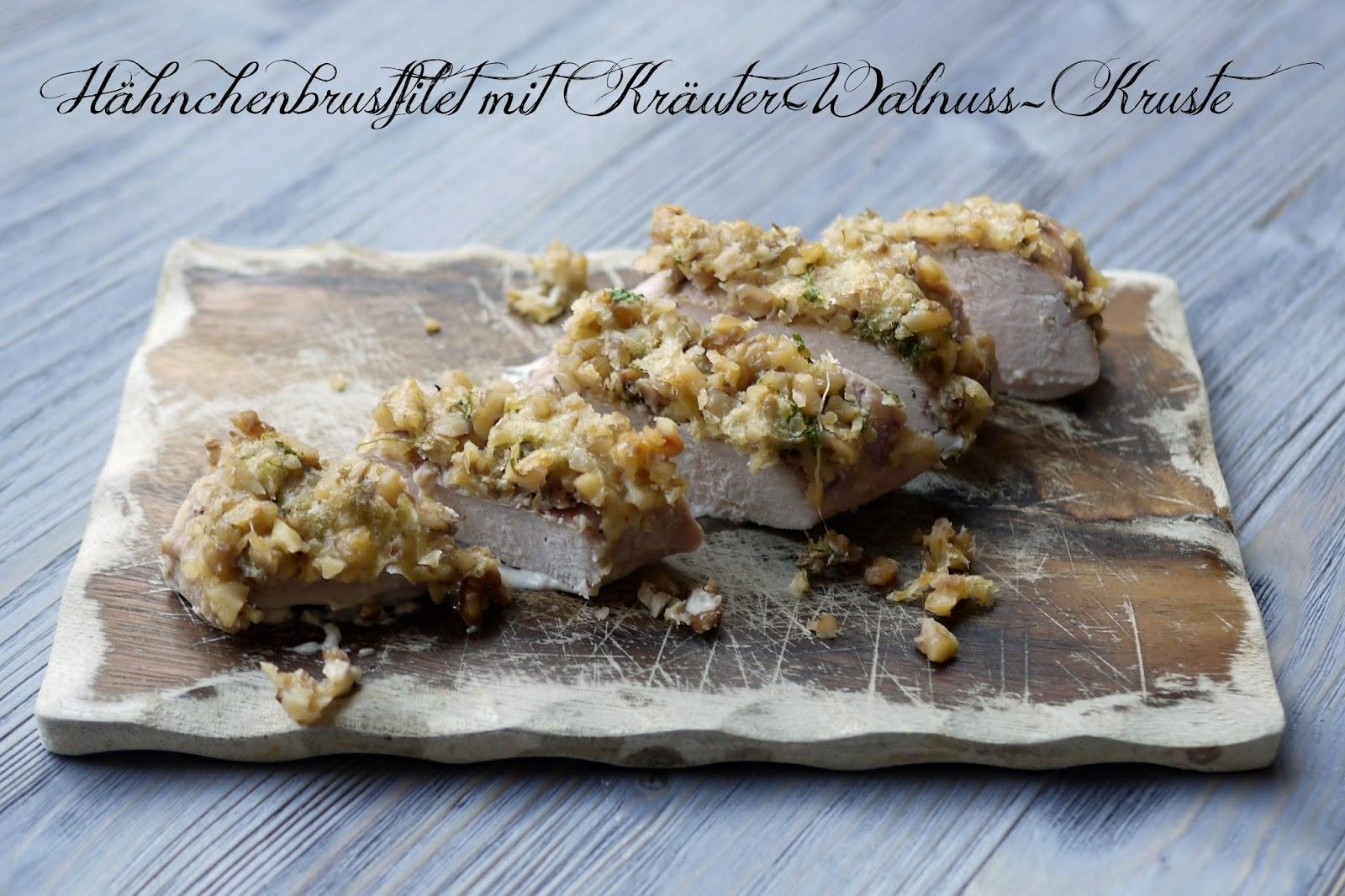 Hähnchenbrustfilets mit Kräuter-Walnuss-Kruste  | Rezept | Kochen | Essen