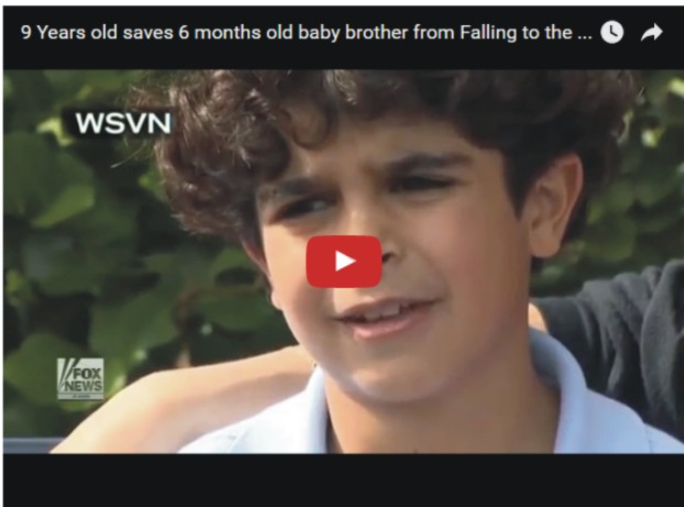 9yrs Old Boy Save 11 months Old Brother From Falling - Video