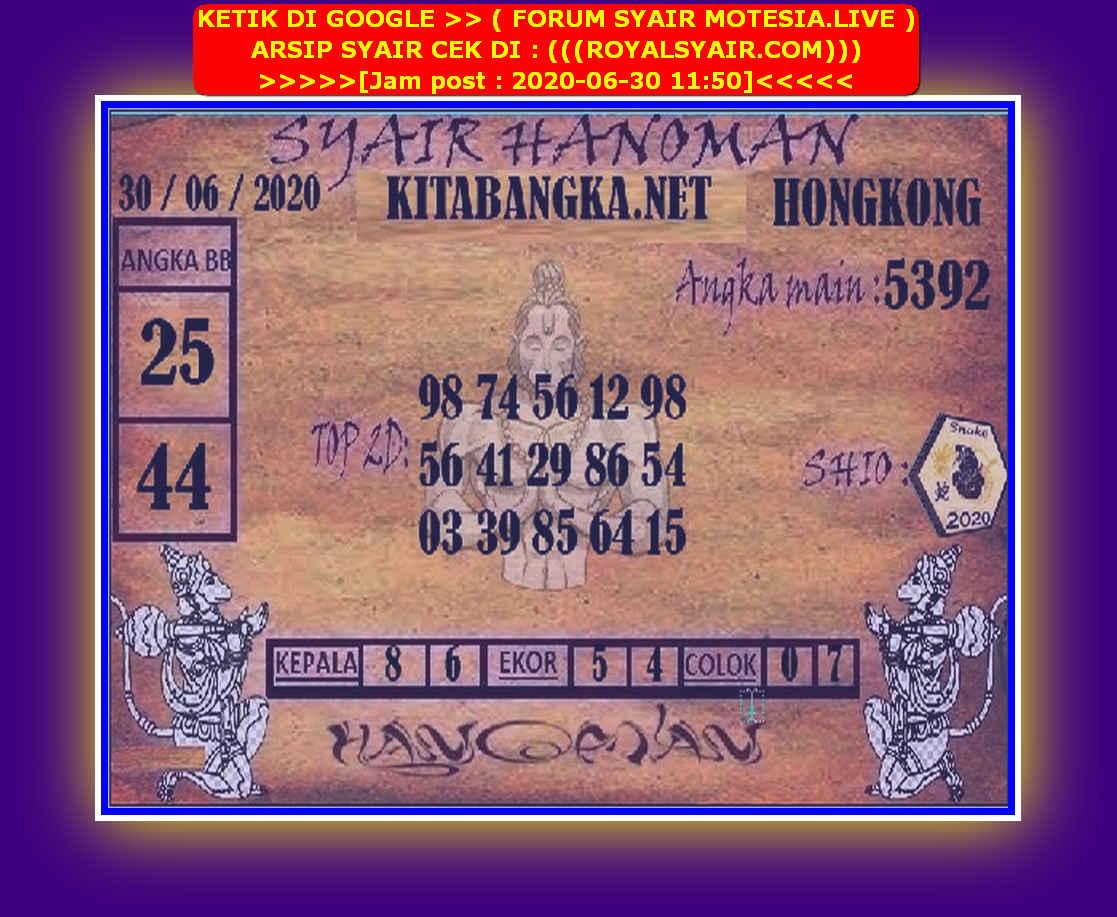 Kode syair Hongkong Selasa 30 Juni 2020 224