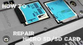 cara mudah memperbaiki memory card tidak terbaca