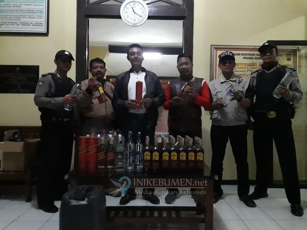 Digerebek Polisi, Penjual Miras di Gombong Berhasil Melarikan Diri